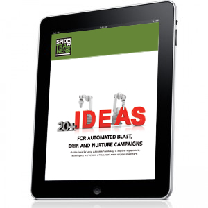 Spider Trainers' 20+ Ideas for Blast, Drip, and Nurture Campaigns cover image
