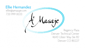 A Masaje business card image