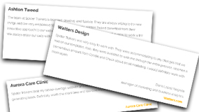 Summertime Sales Slump publish testimonials column banner image