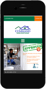 CommandHomeMortgage.com mobile website image
