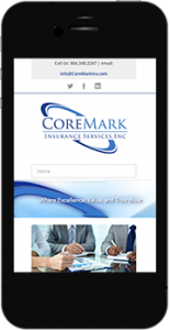 CoreMarkIns.com mobile website image
