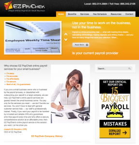 EZ PayChek WordPress website image