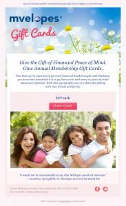 Mvelopes Gift Cards email image