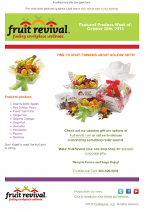 Fruit Revival drip campaign email image