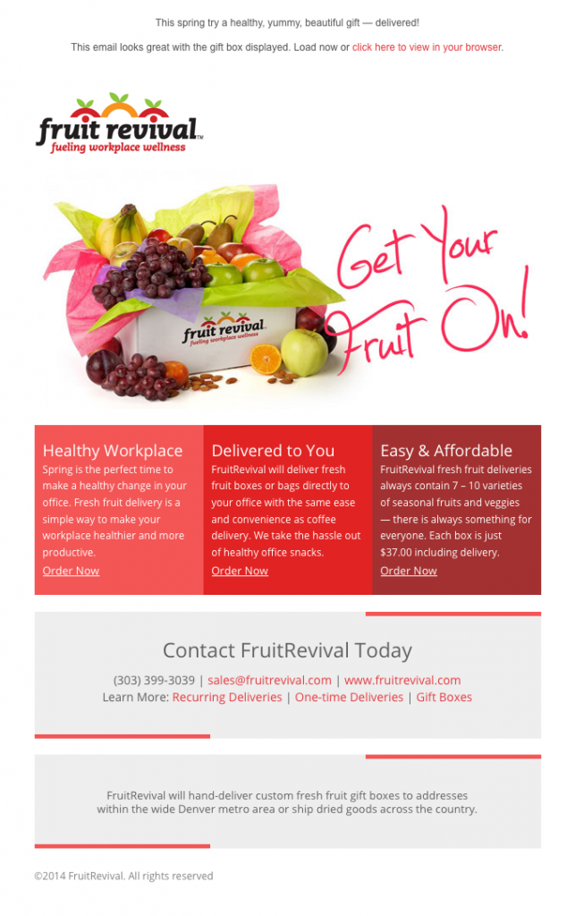 Fruit Revival Get Your Fruit On email image