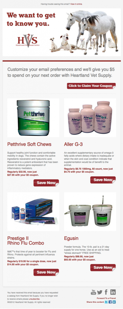 Heartland Vet Supply product announcement email image