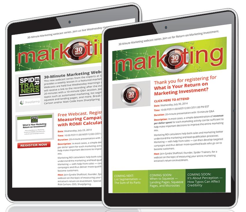 Spider Trainers' nurture marketing in-page image
