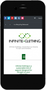 Infinite.Clothing mobile website image