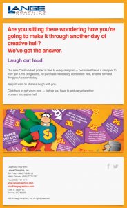 Lange Graphics' Trapped in Creative Hell email image