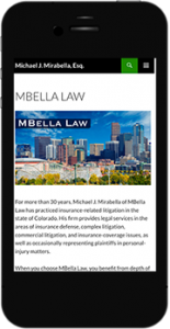 MBellaLaw.com mobile website image