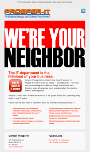 Prosper-IT We're Your Neighbor free IT review email image