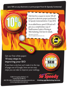 Sir Speedy coupon email image