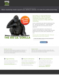 Spider Trainers' 800 lb. Gorilla eBook squeeze page image