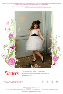 Watters postcard-style announcement email image